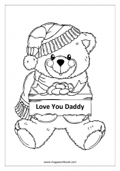 Father's Day Coloring Pages - I Love Dad