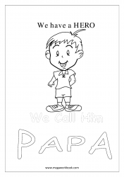 Coloring Sheet - Father's Day - My Dad, My Hero