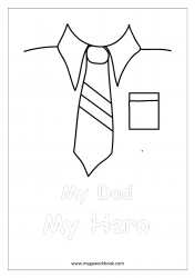 Father's Day Coloring Pages - My Dad, My Hero