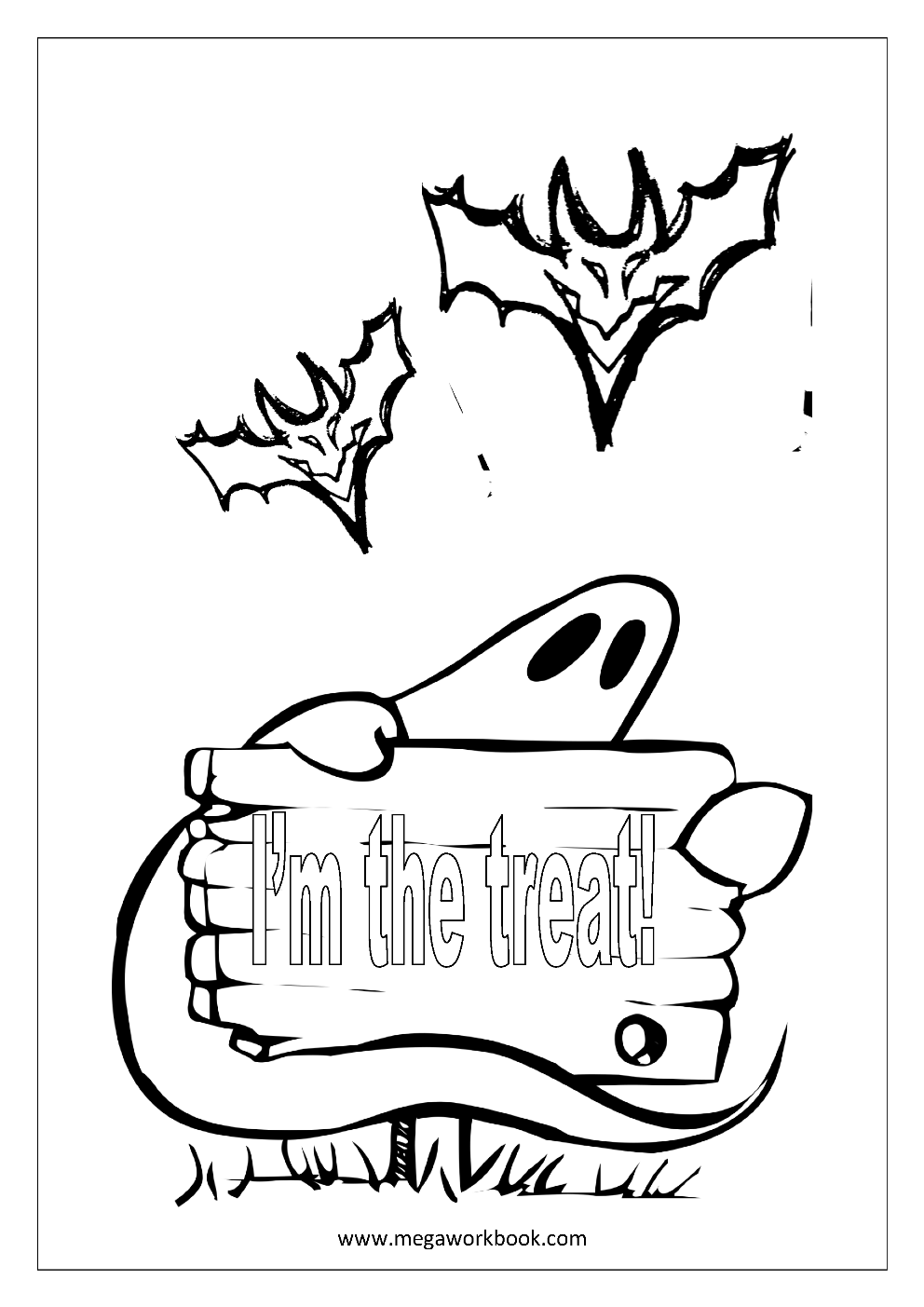 Free Coloring Sheets - Halloween - MegaWorkbook