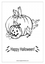 Free Printable Halloween Coloring Pages-Halloween Coloring Sheets-Halloween Pictures to Color-Pumpkins