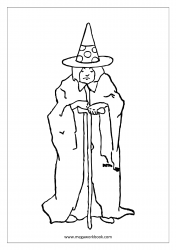 Free Printable Halloween Coloring Pages-Halloween Coloring Sheets-Halloween Pictures to Color-Old Witch