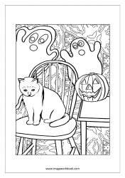 Free Printable Halloween Coloring Pages-Halloween Coloring Sheets-Halloween Pictures to Color-Pumpkin
