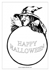 Free Printable Halloween Coloring Pages-Halloween Coloring Sheets-Halloween Pictures to Color-Witch