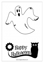 Free Printable Halloween Coloring Pages-Halloween Coloring Sheets-Halloween Pictures to Color-Ghost