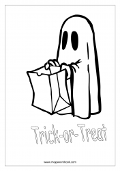 Free Printable Halloween Coloring Pages-Halloween Coloring Sheets-Halloween Pictures to Color-Trick Or Treat