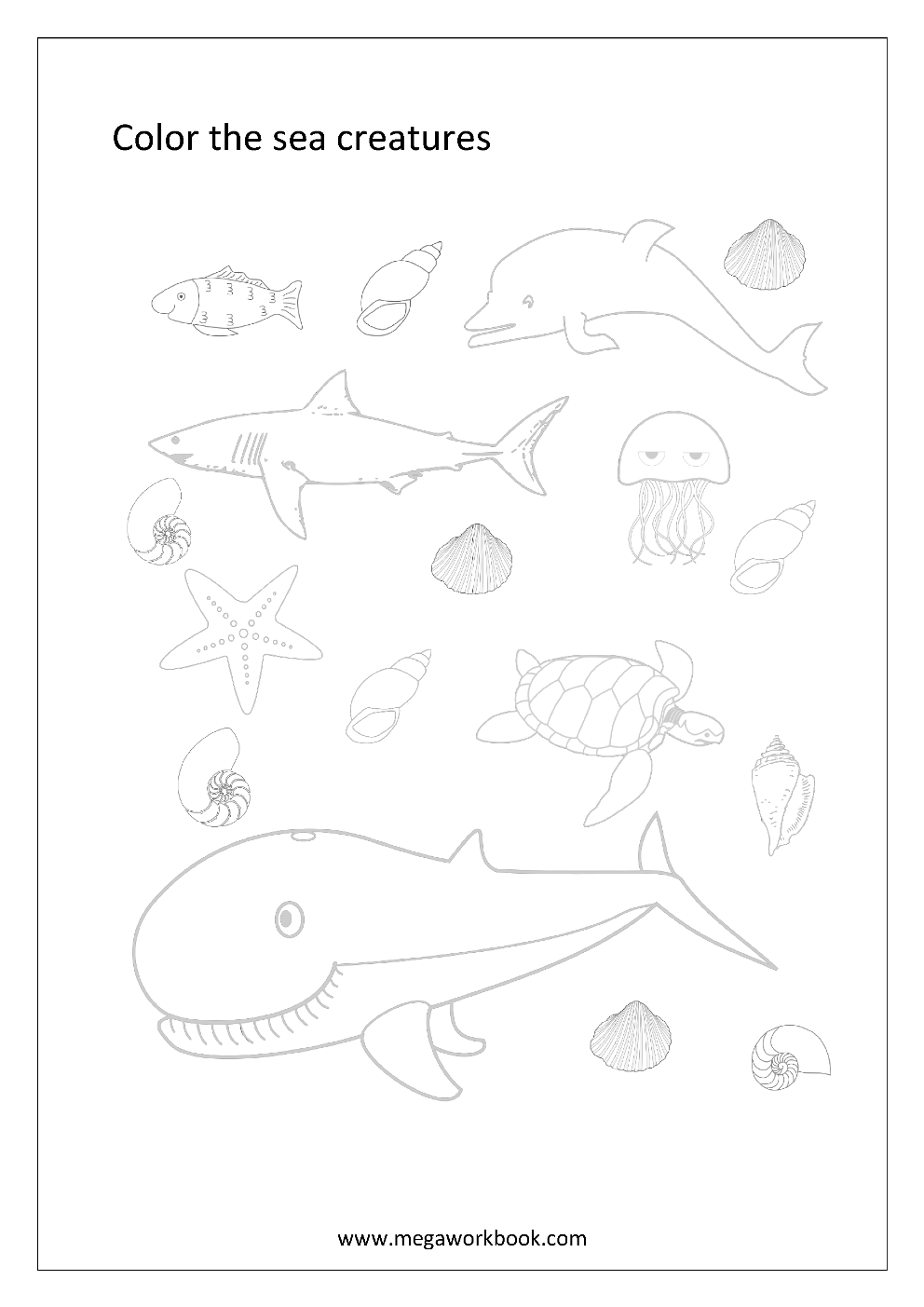 Animal Coloring Pages Sea Animals