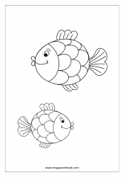 Fish Coloring Pages - Sea Creatures Coloring Pages