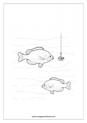 Coloring Sheet - Fishes