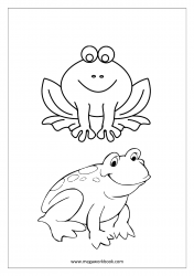 Frog Coloring Pages - Sea Creatures Coloring Pages