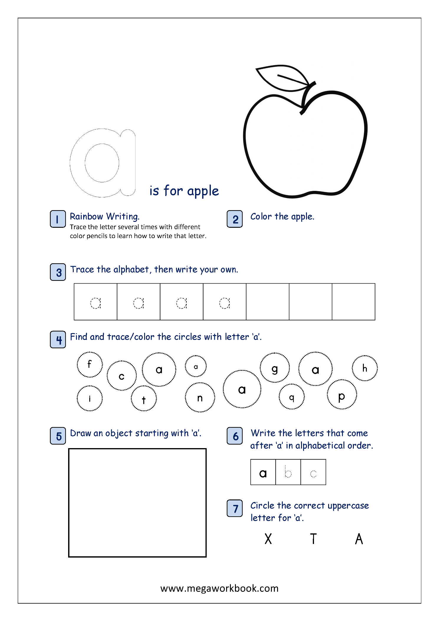 Free Printable Alphabet Recognition Worksheets For Small ...