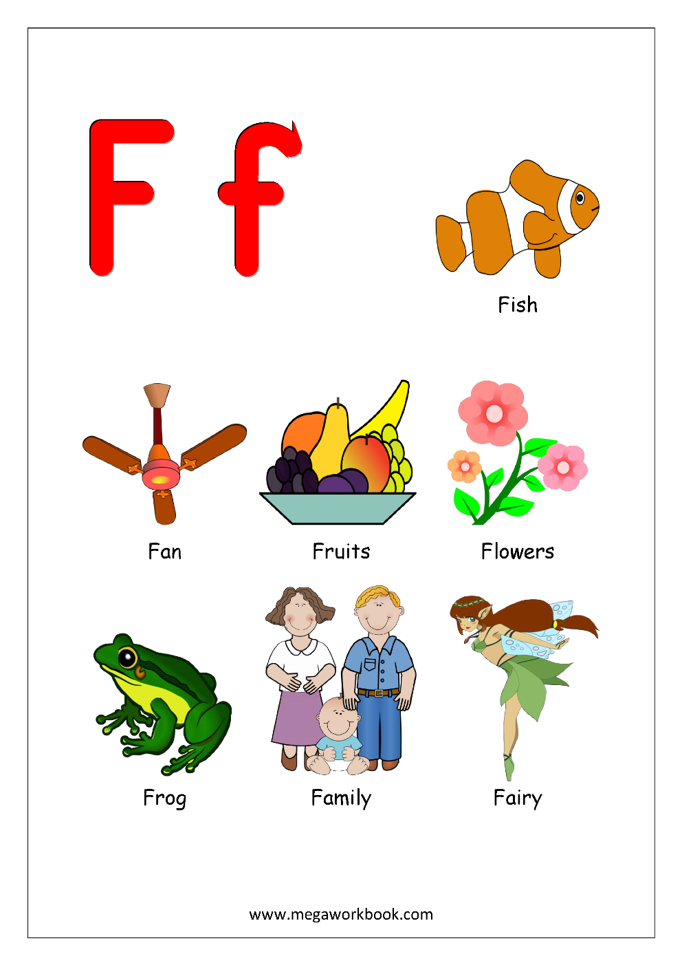 Free English Worksheets - Alphabet Reading - MegaWorkbook