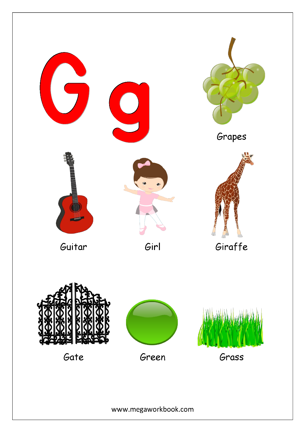 Letter Words Beginning With G
