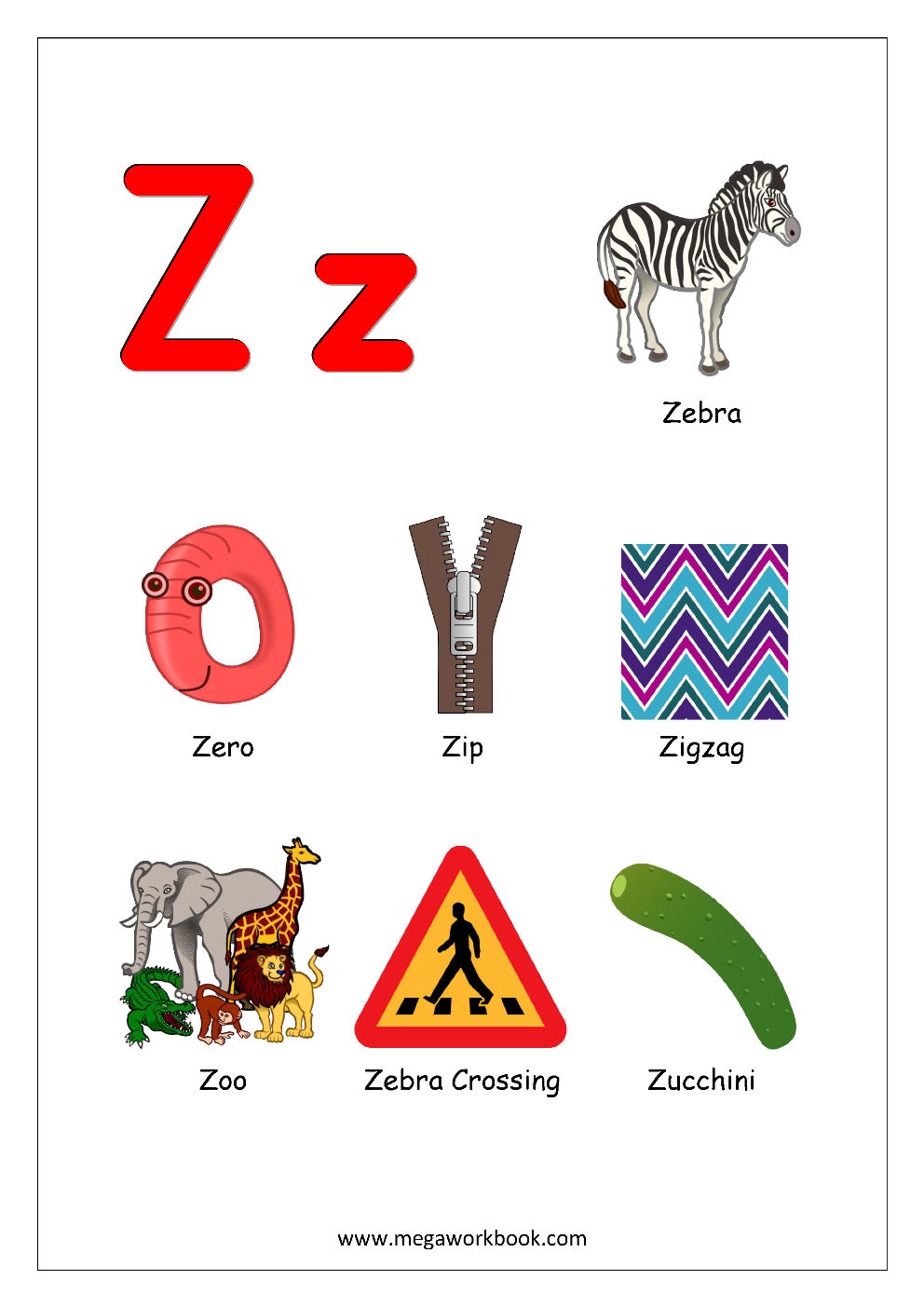 Free English Worksheets Alphabet Reading Megaworkbook