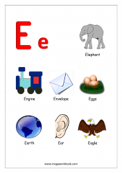 Objects Starting With Alphabet - E