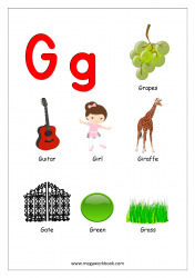 Objects Starting With Alphabet - G