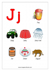 Objects Starting With Alphabet - J