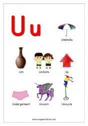 Objects Starting With Alphabet - U