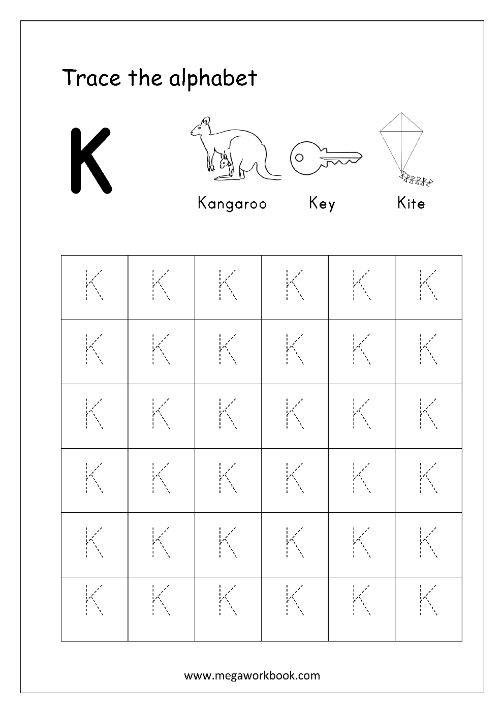 tracing letters alphabet tracing capital letters letter tracing worksheets free. Black Bedroom Furniture Sets. Home Design Ideas