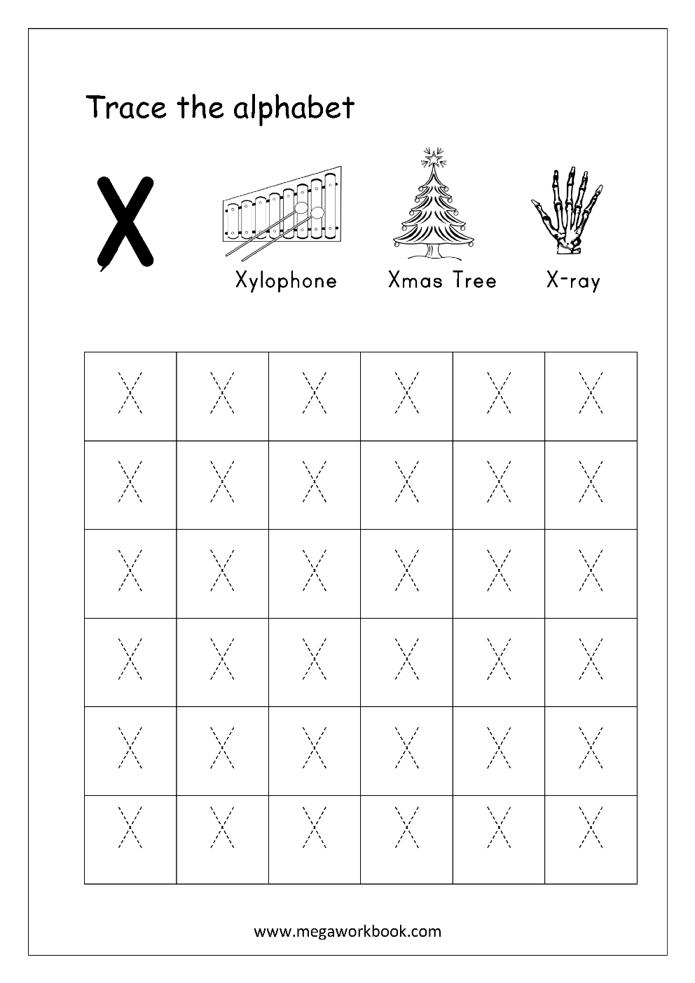 worksheet Letter X Worksheet free english worksheets alphabet tracing capital letters worksheet letter x