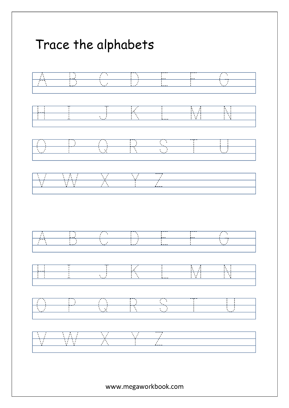 collection of a to z worksheets bluegreenish