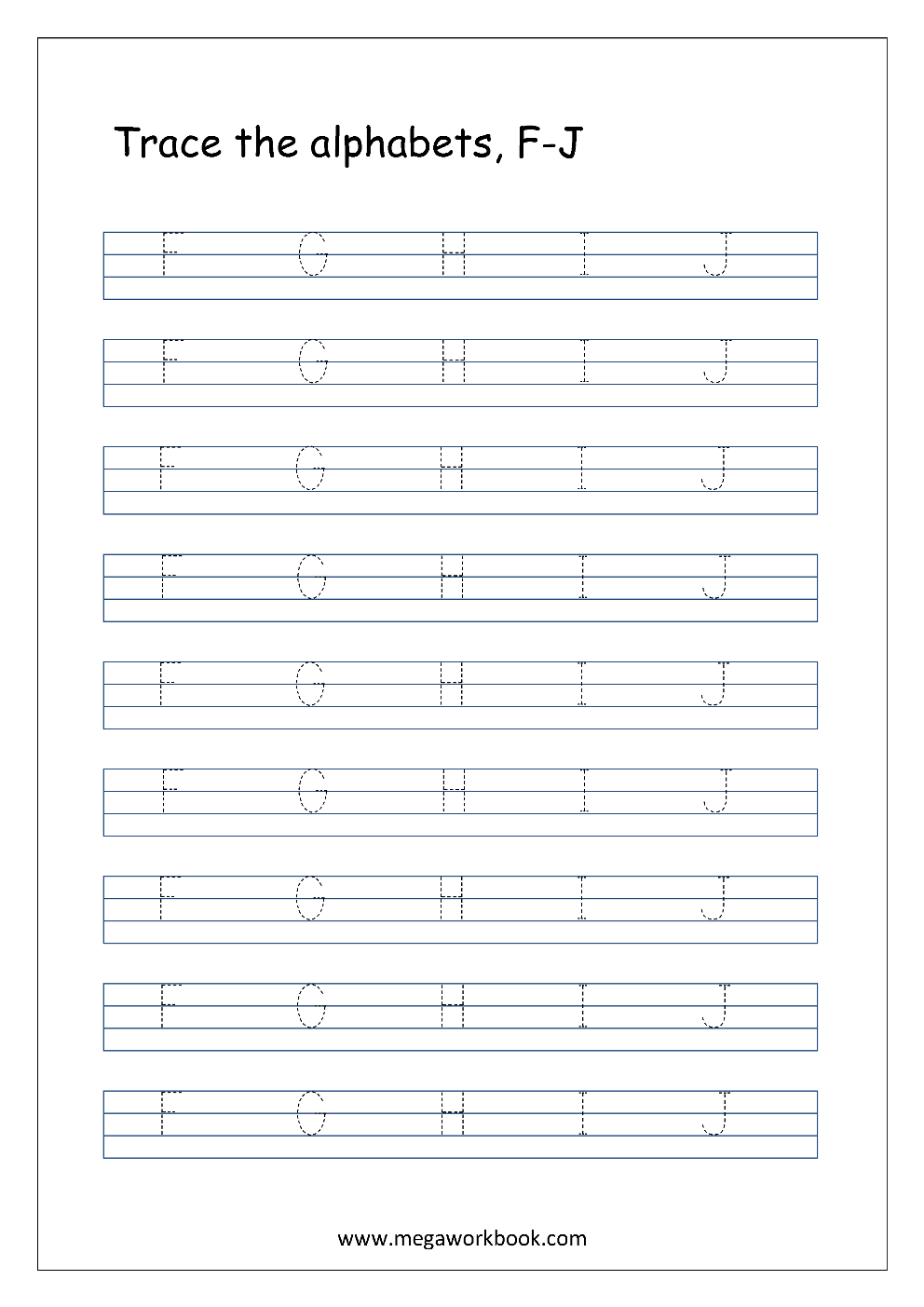 Free English Worksheets - Alphabet Tracing (Capital ...