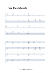 Tracing Letters - Letter Tracing Worksheet - Capital Letters A to Z