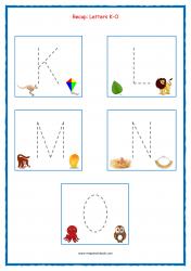 Tracing Letters - Letter Tracing Worksheets - Capital Letters - Recap K-O