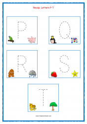 Tracing Letters - Letter Tracing Worksheets - Capital Letters - Recap P-T