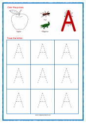 Tracing Letters - Letter Tracing Worksheets - Capital A - Free Preschool Printables