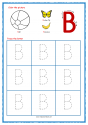 Tracing Letters - Letter Tracing Worksheets - Capital B - Free Preschool Printables