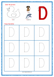Tracing Letters - Letter Tracing Worksheets - Capital D - Free Preschool Printables