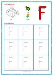 Tracing Letters - Letter Tracing Worksheets - Capital F - Free Preschool Printables