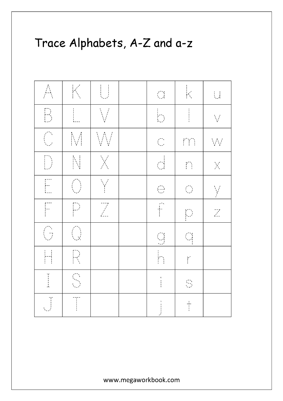 Free english worksheets alphabet tracing small letters letter english worksheet alphabet tracing small and capital letters a z a z spiritdancerdesigns Choice Image