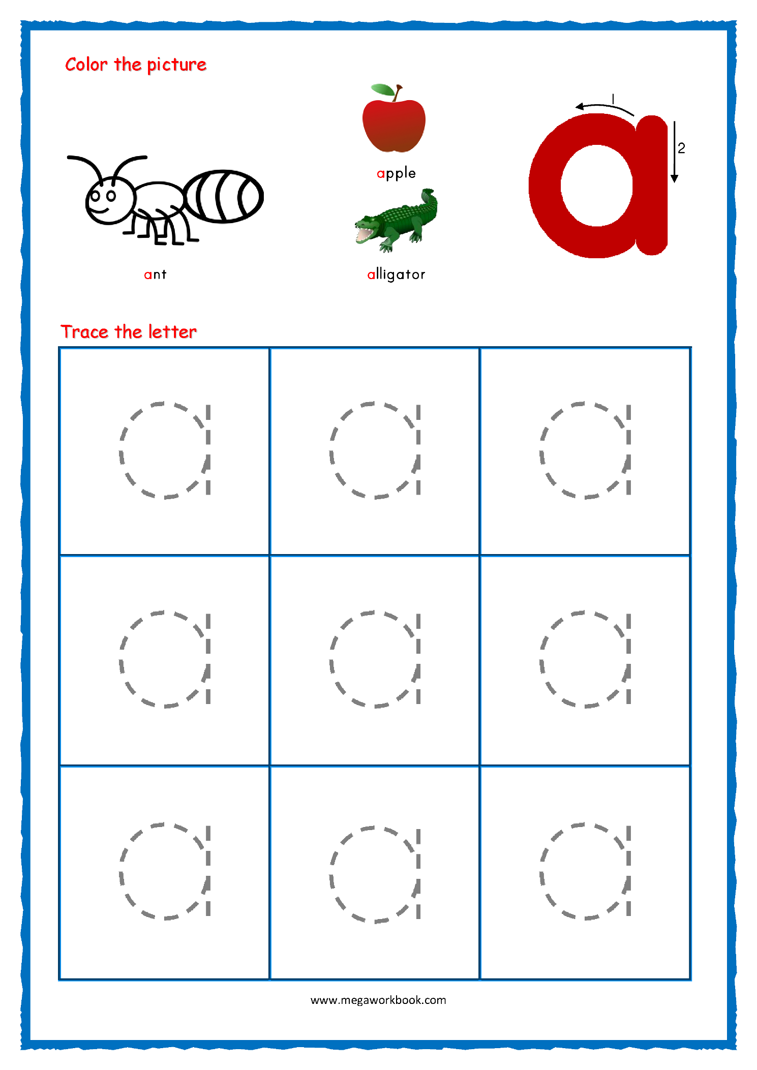Alphabet Tracing - Small Letters - Alphabet Tracing ...