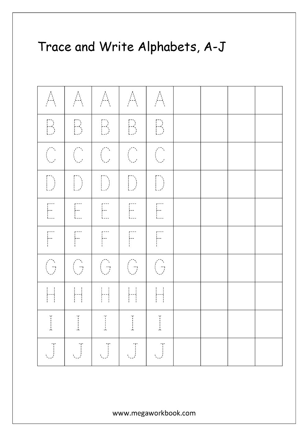 Free english worksheets alphabet writing capital letters english worksheet alphabet writing capital letters a j thecheapjerseys Gallery