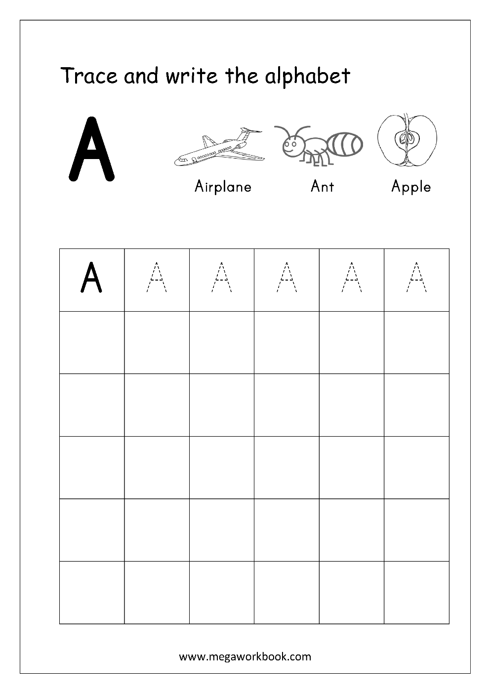 free english worksheets - alphabet writing  capital letters  - letter tracing  writing