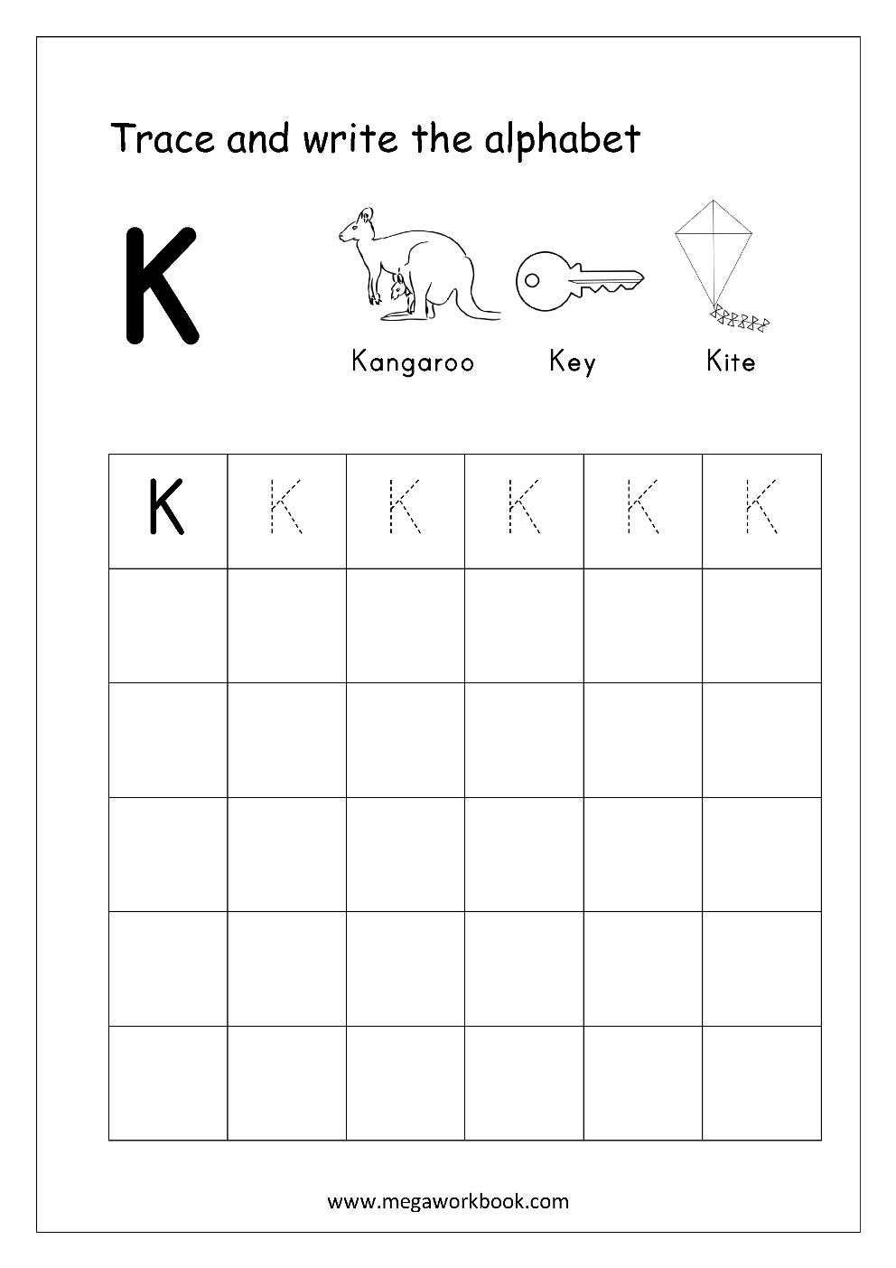free english worksheets alphabet writing capital letters letter tracing writing megaworkbook. Black Bedroom Furniture Sets. Home Design Ideas