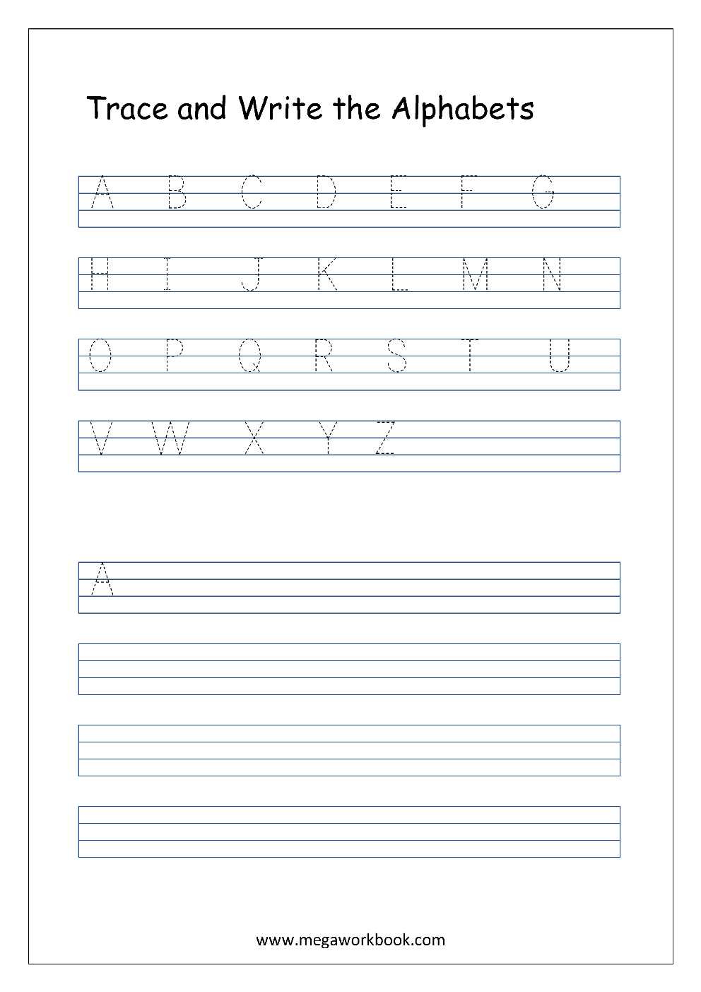 Worksheets A-z Writing Worksheets free english worksheets alphabet writing capital letters worksheet a z