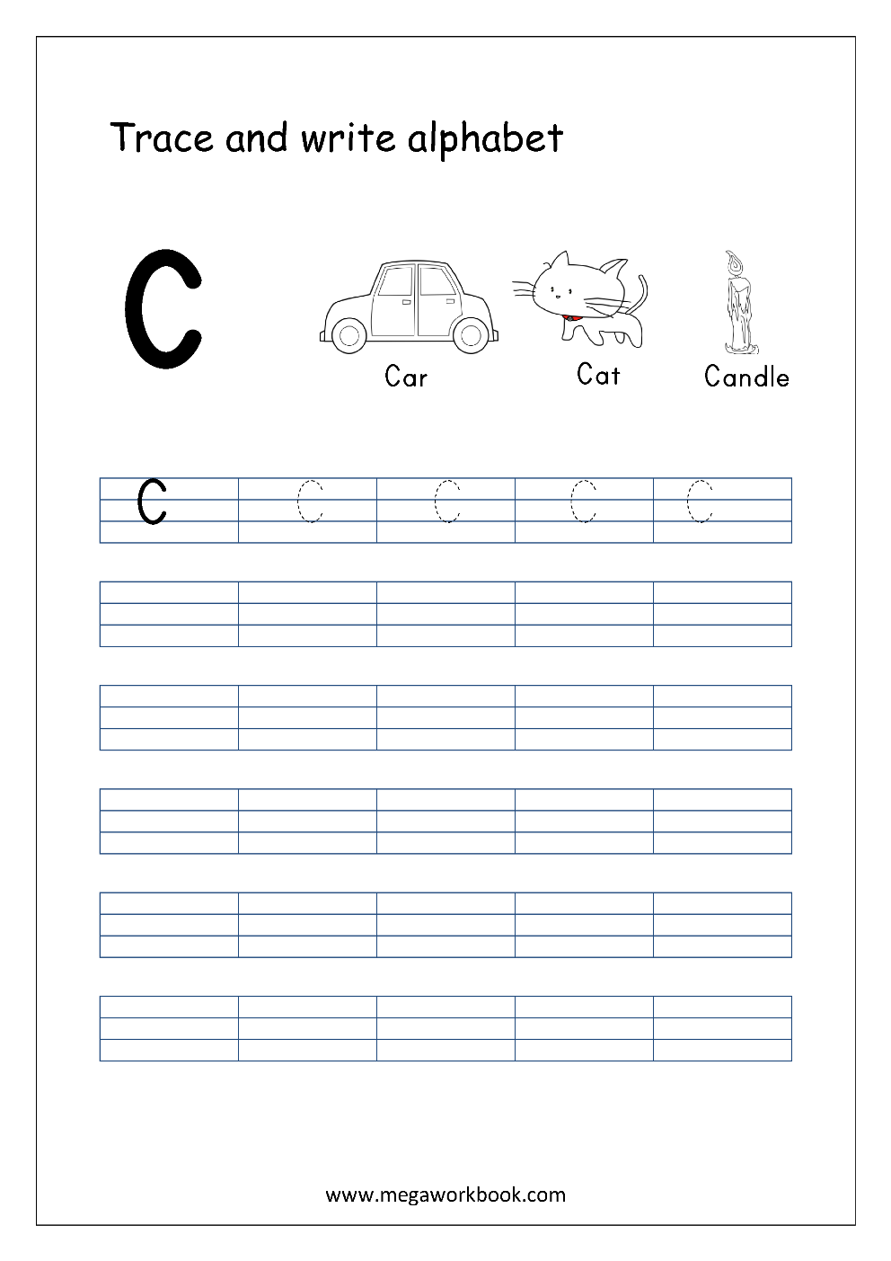 Free English Worksheets Alphabet Writing Capital