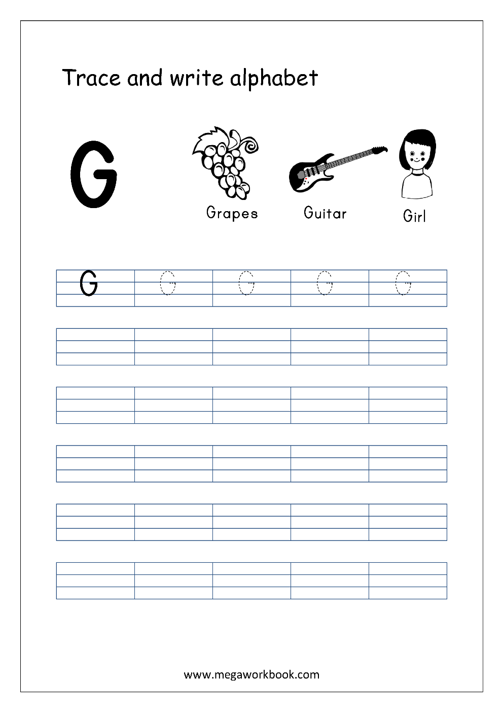 How To Write G In Capital Letter