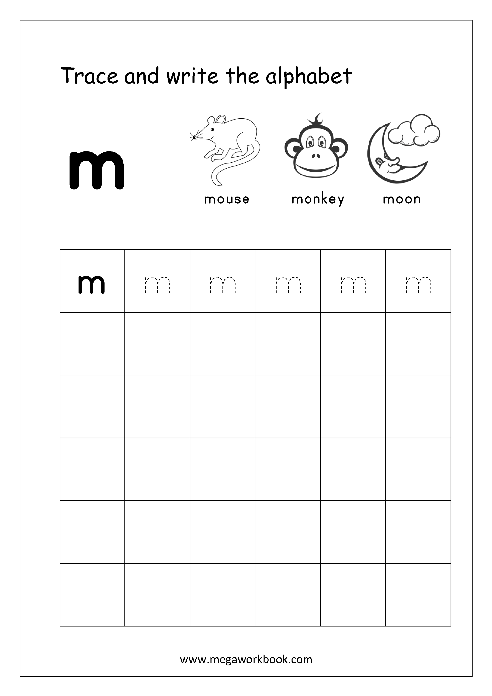 Free English Worksheets Alphabet Writing Small Letters