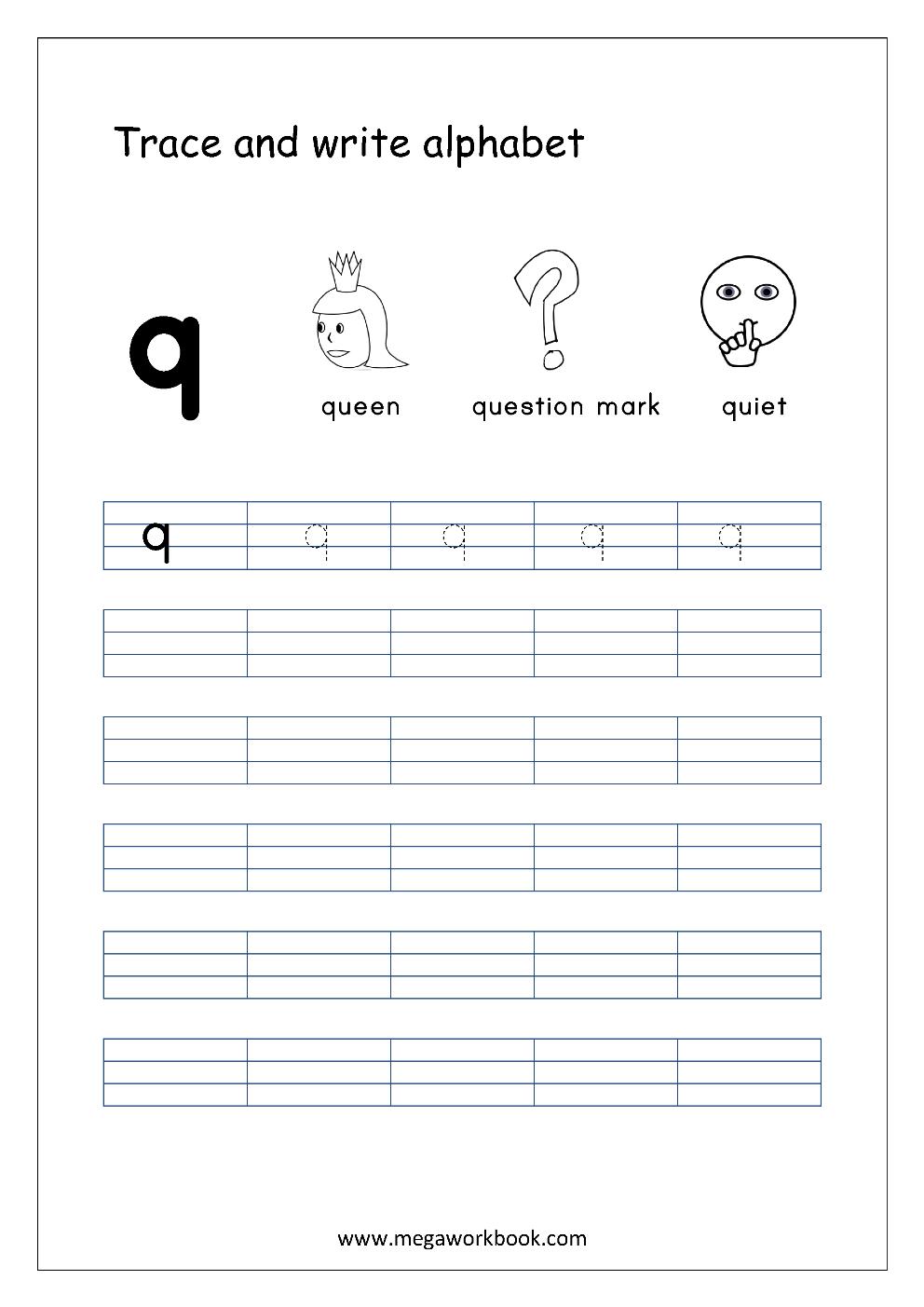 Free English Worksheets Alphabet