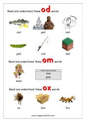 'od/om/ox' Word Family