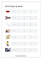 CVC Words Ending With 'ip' (CVC Words Writing Worksheets)