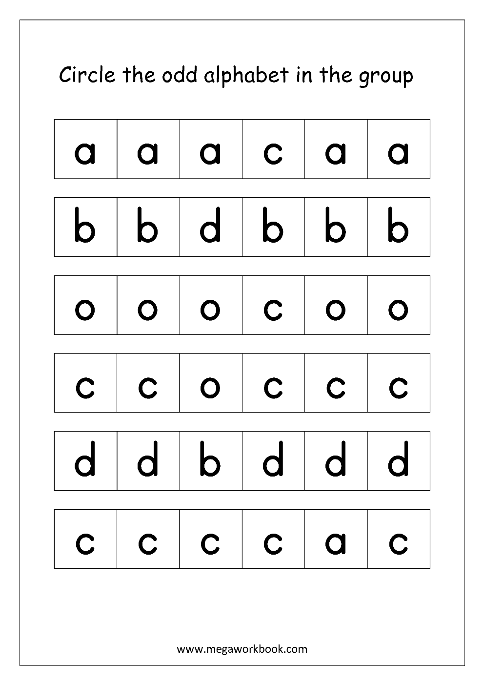 Free Printable English Worksheets for Kindergarten and Preschool ...