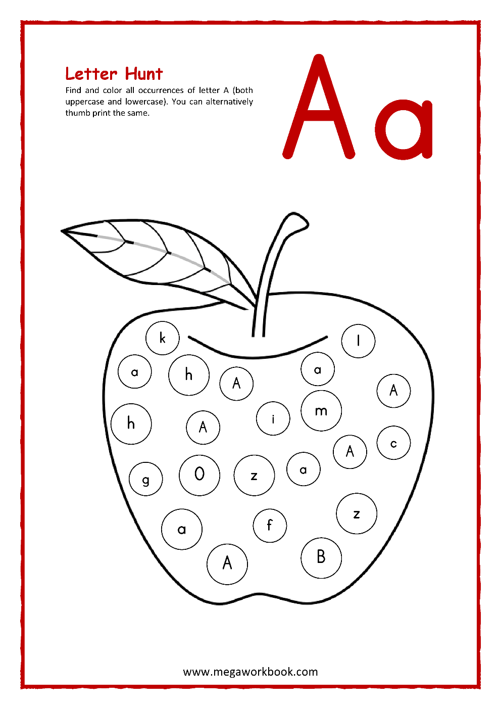 - Letter A Activities - Letter A Worksheets - Letter A Activity