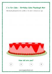 Birthday Cake Playdough Mat