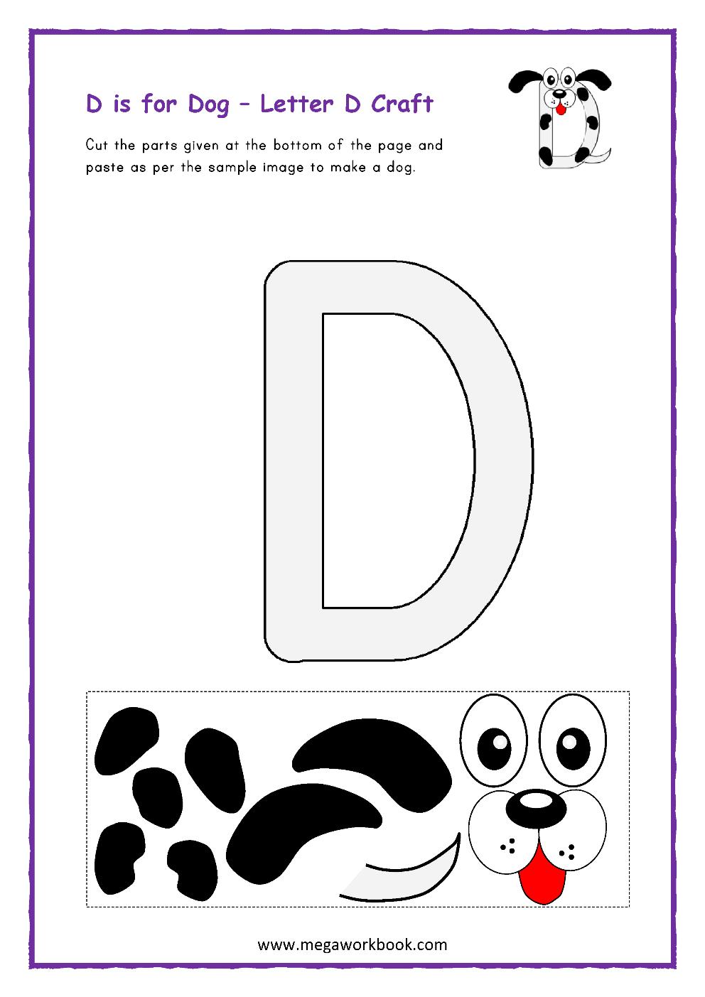 Letter D Activities - Letter D Worksheets