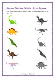 Dinosaur Picture Matching